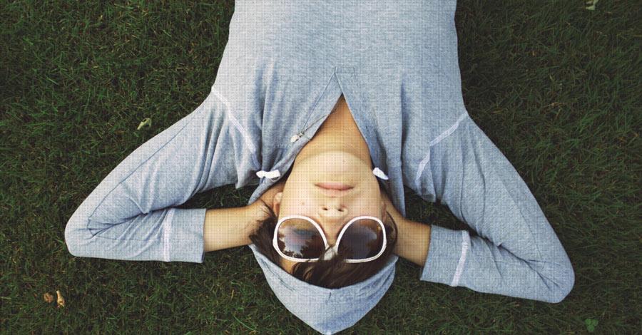 Lazy man on grass