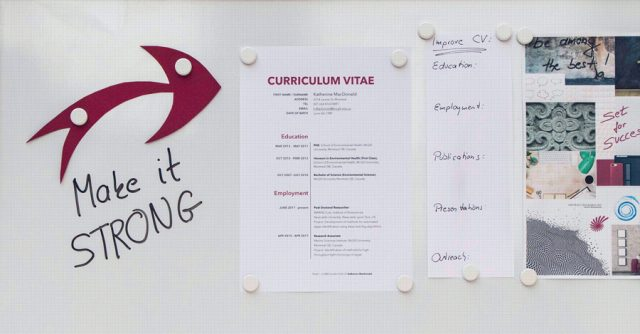 Academic-CV-on-whiteboard