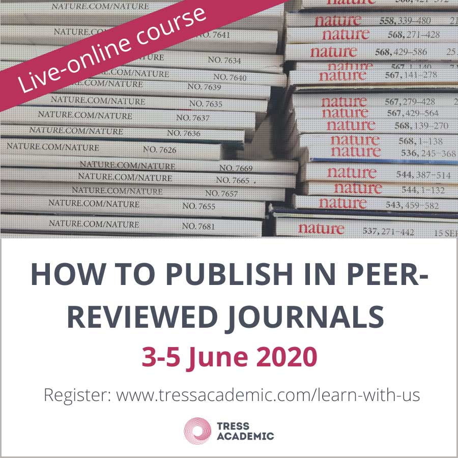 """Live-Online course """"How to publish in peer-reviewed journals"""", 3-5 June 2020"""
