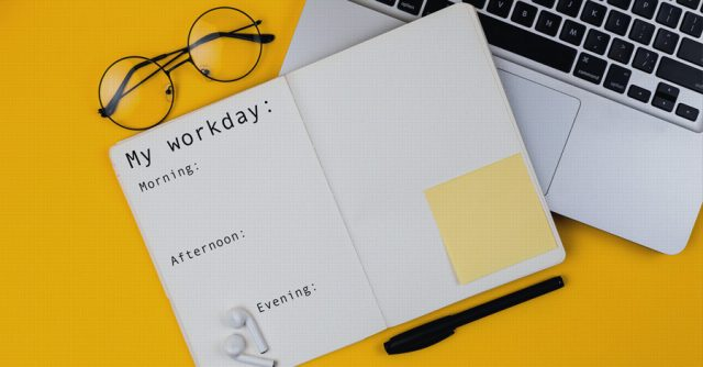Schedule to plan PhD workday