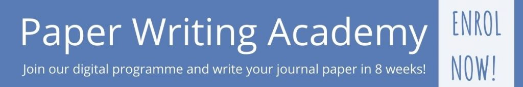 Paper Writing Academy: Join our digital programme and write your journal paper in 8 weeks